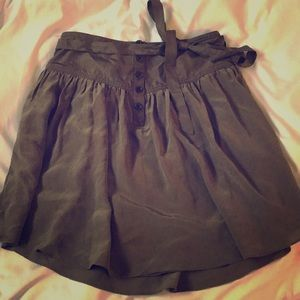 Silk olive green Club Monaco flowy skirt